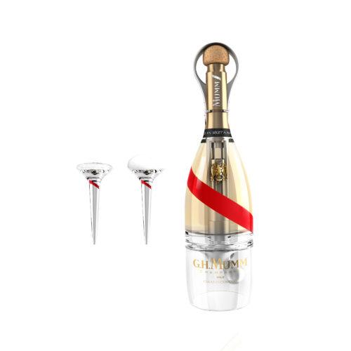 Mumm Grand Cordon Stellar bouteille et flutes