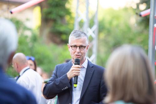 Christophe Danneaux lors du discours des 30 ans du mecenat