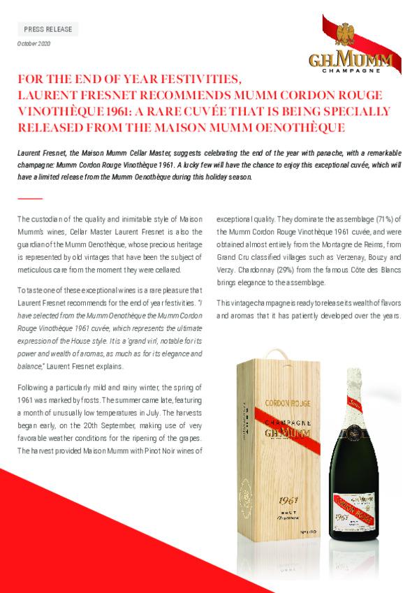 Mumm Cordon Rouge Vinotheque - En-pdf